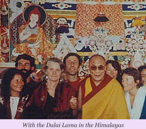 Mary Margaret Moore  with the Dalai Lama